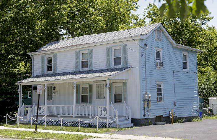 The former home of the Springsteen family is seen in Freehold, N.J., Monday, July 9, 2018. The childhood home in New Jersey where Bruce Springsteen lived for seven years has been sold for $255,000. (AP Photo/Seth Wenig)